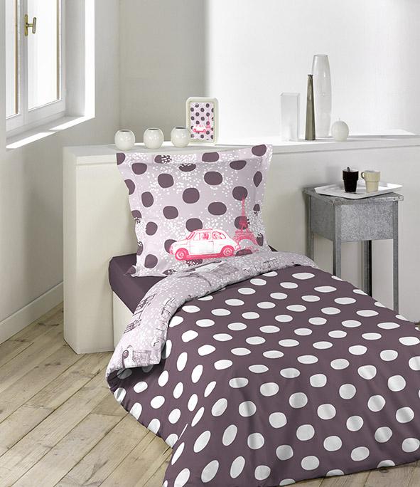 parure 2 p 140x200 lulu castagnette forever aubergine homemaison vente en ligne parures. Black Bedroom Furniture Sets. Home Design Ideas