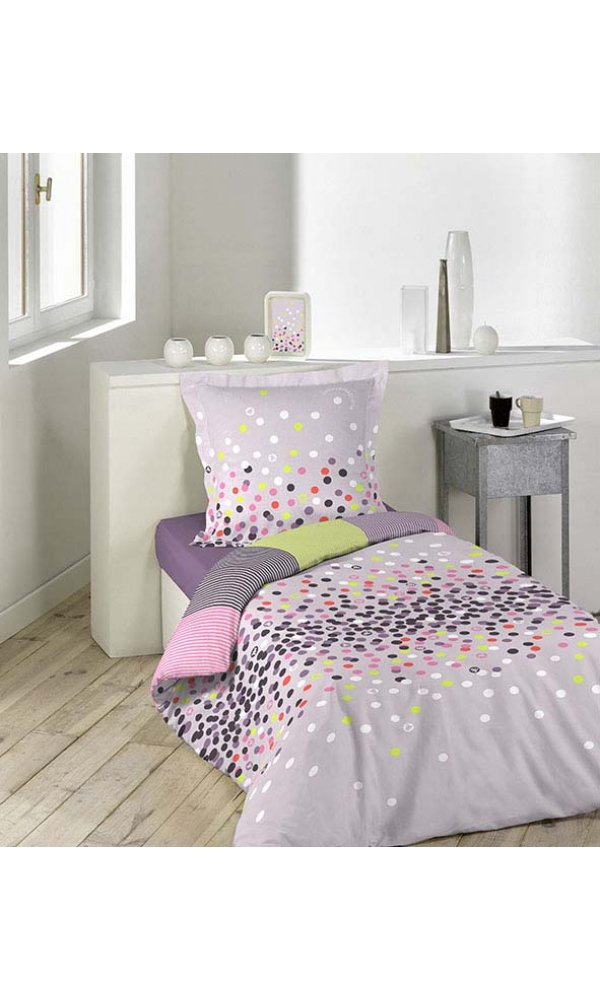 parure 2 p 140x200 lulu castagnette confettis multicolore homemaison vente en ligne. Black Bedroom Furniture Sets. Home Design Ideas