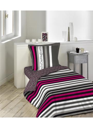 parure 2 p 140x200 lulu castagnette rock multicolore homemaison vente en ligne parures de lit. Black Bedroom Furniture Sets. Home Design Ideas